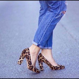 Etta Leopard Calf Skin Pumps